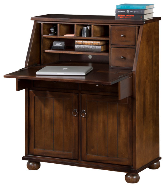 Prescott Drop Leaf Desk Dark Chocolate Traditional Desks And Hutches