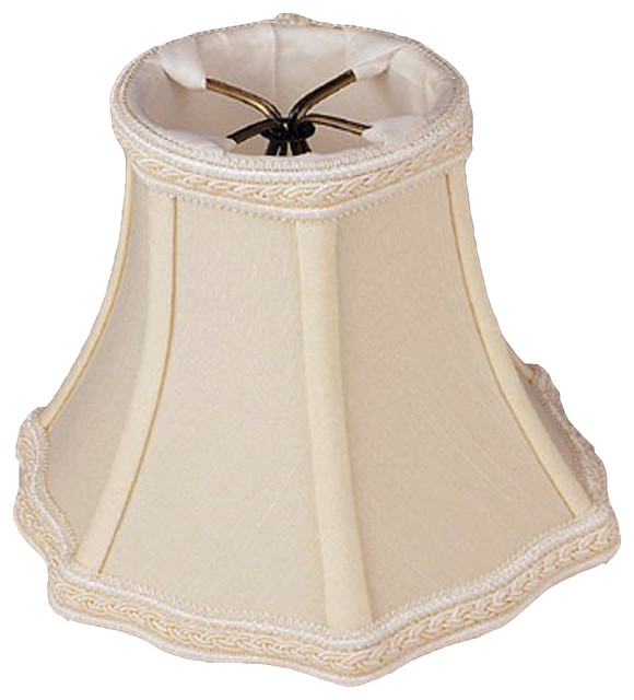French Bell Candelabra Clip On Shade Transitional Lamp