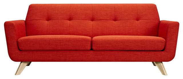 Prime Retro Orange Dania Sofa Natural Theyellowbook Wood Chair Design Ideas Theyellowbookinfo