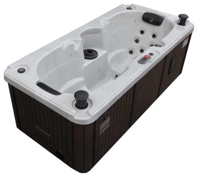 Yukon Plug & Play 16-Jet 2-Person Hot Tub With LED Lighting and ...