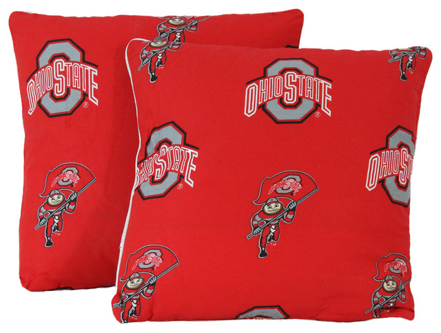 Ohio State Buckeyes 16 X16 Decorative Pillow Includes 2 Pillows