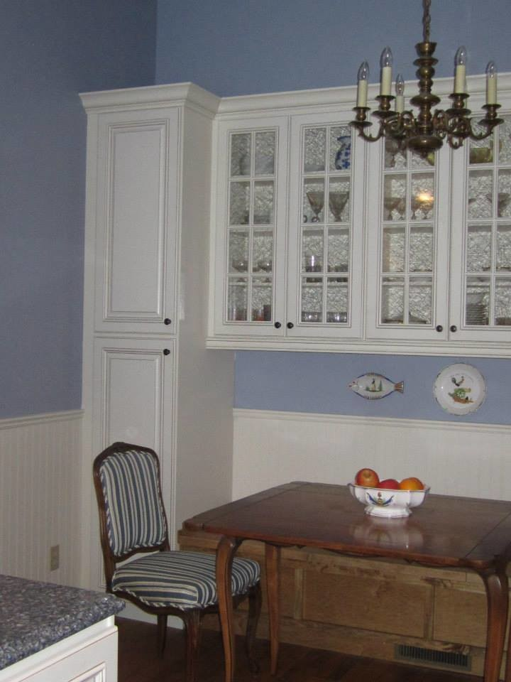 Painted with Glaze Cabinets