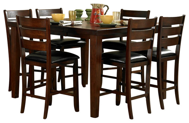 Superieur Homelegance Ameillia 7 Piece Extension Square Counter Height Table Set