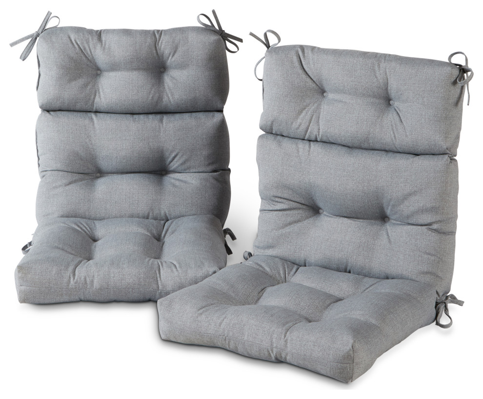 outdoor high back chair cushion set of 2 heather gray prvw vr
