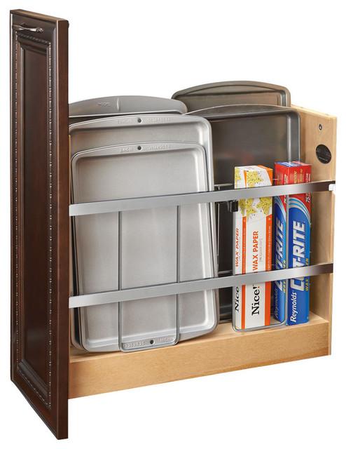 Rev-A-Shelf, Tray Divider/foil And Wrap Organizer Soft-Close, Natural, 5.