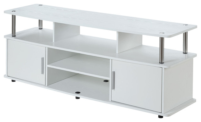 "Designs2go Monterey Tv Stand, White, 60""."