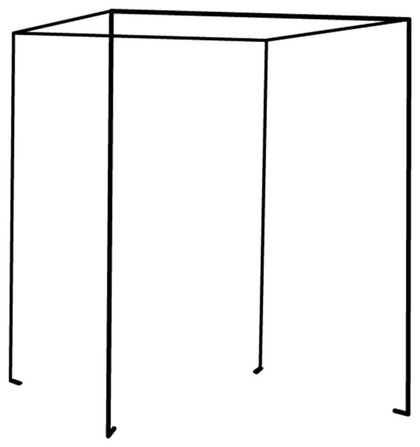 Iron Four Poster Freestanding Bed Canopy - Traditional - Bed ...