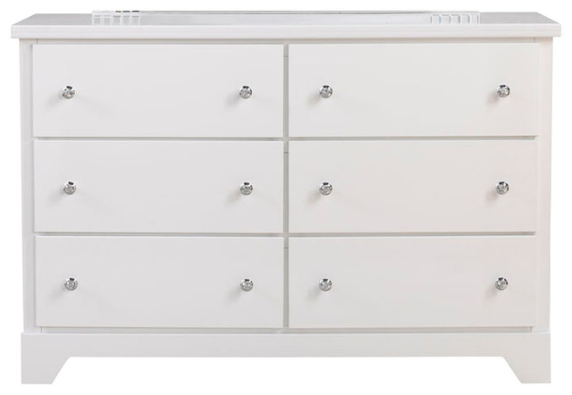 standard furniture marilyn youth 6drawer dresser in glossy white