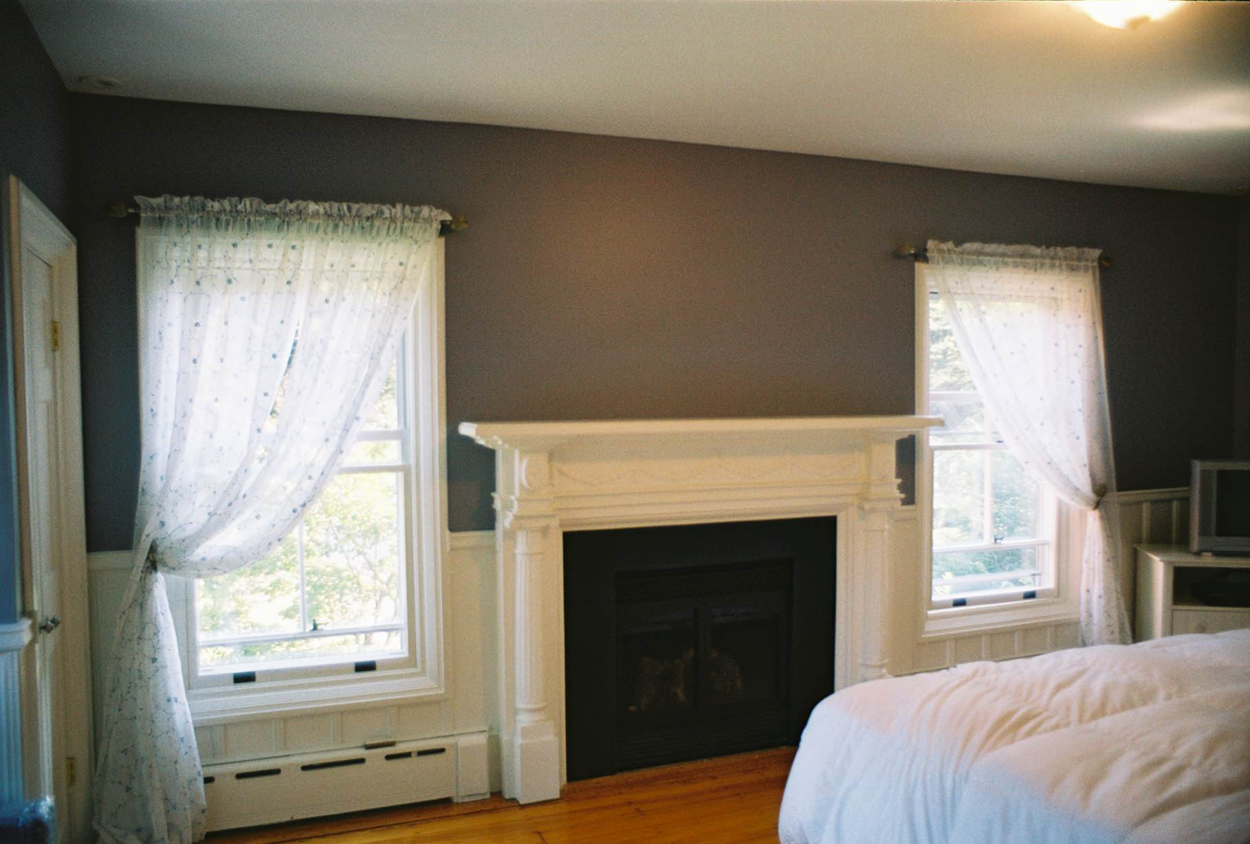 NEW GAS FIREPLACE in MASTER BEDROOM