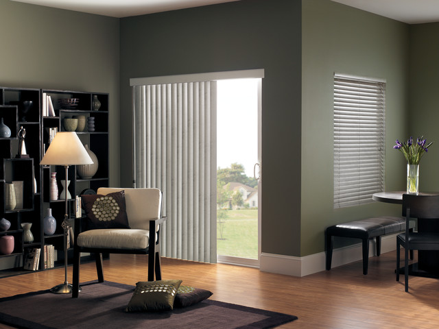 Vertical Blinds For Sliding Glass Doors Modern Living Room