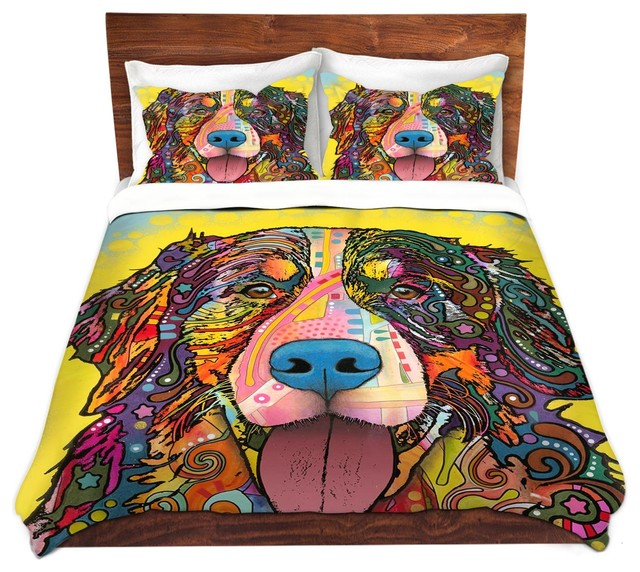 dianoche microfiber duvet covers by dean russo bernese mountain dog - Dean Russo