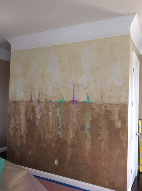 Abstract Mural - Venetian Plaster - Contemporary - DC Metro - by A&J Decoration/Restoration
