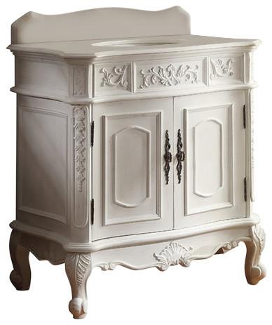 33 Antique Style White Classic Benson Bathroom Vanity Mirror Victorian