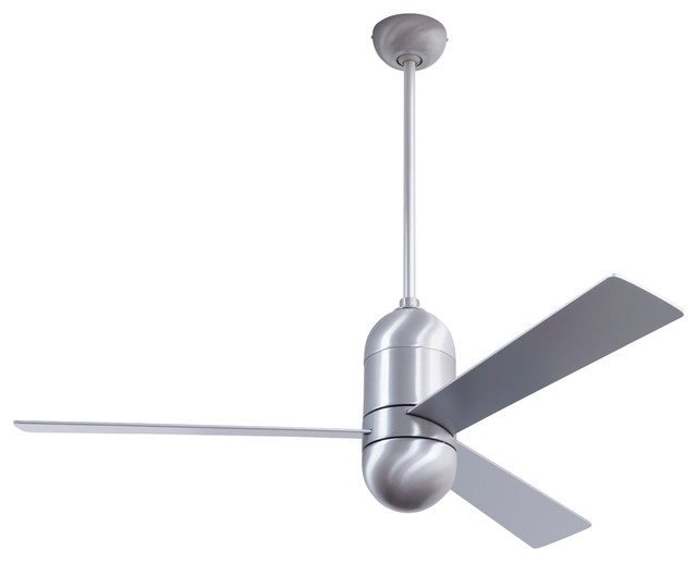 Cirrus Dc Fan Brushed Aluminum Finish 50 Aluminum Blades No Light Contemporary Ceiling Fans By The Modern Fan Co
