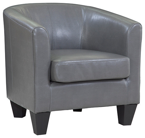 Grafton Home Ellen Charcoal Bonded Leather Tub Chair by Grafton