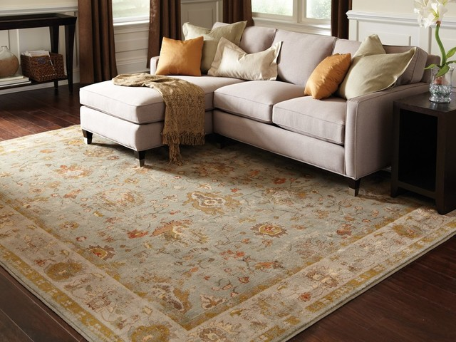 "Colette Oriental Blue and Gray Rug, 5'3""x7'6"""