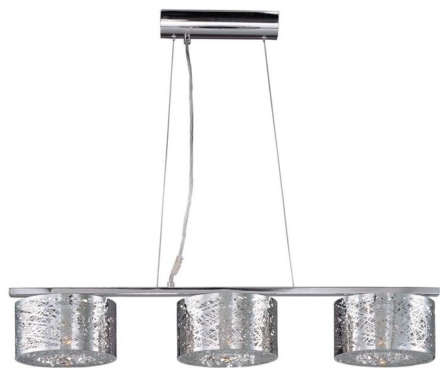 ET2 Lighting E21304 10PC 3 Light Pendant Inca Collection