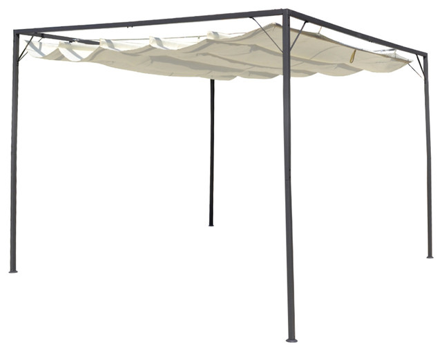 Vidaxl Garden Gazebo With Retractable Roof Canopy.
