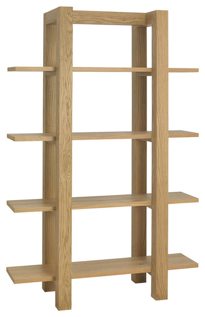 Panama Light Oak Open Shelving Unit