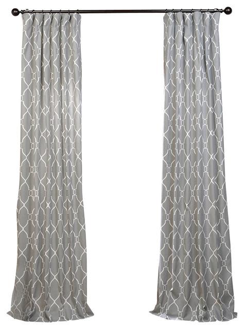 Exclusive Fabrics & Furnishings, LLC Aiden Gray Printed Cotton ...