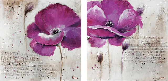 Purple Flower Wall Art Modern Prints And Posters New