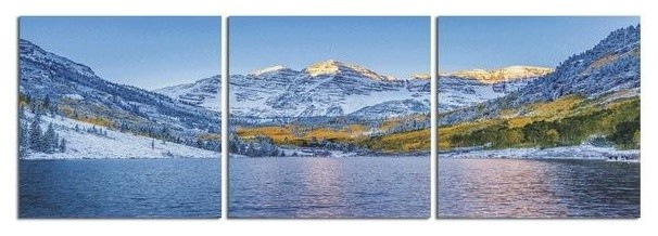 Maroon Bells Colorado Photographic Print On 3 Panel Hd Canvas Wall Art Contemporary Prints And Posters By Elementem Photography Houzz