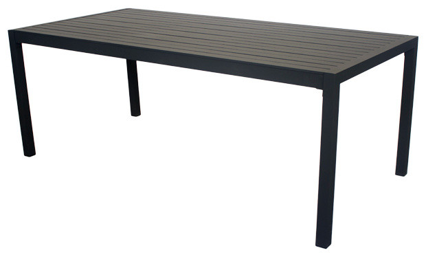 Outdoor Palm Dining Table, Anthracite