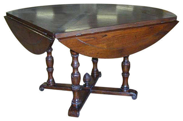 Ancona Square To Round Dining Table Traditional Dining