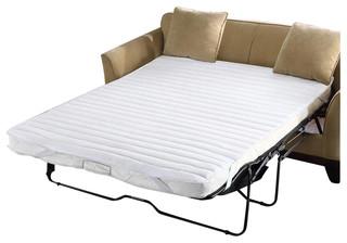 JLA fort Classics Frisco Microfiber Sofa Bed Pad White Contemporary Sleeper Sofas by