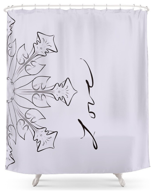 Floral Flowers Text Words Love Shower Curtain Contemporary Shower Curtains By Society6