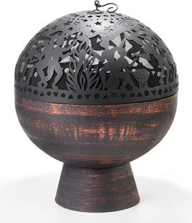 """Good Directions 26"""" Bowl Fire Pit with Full Moon Party FireDome"""