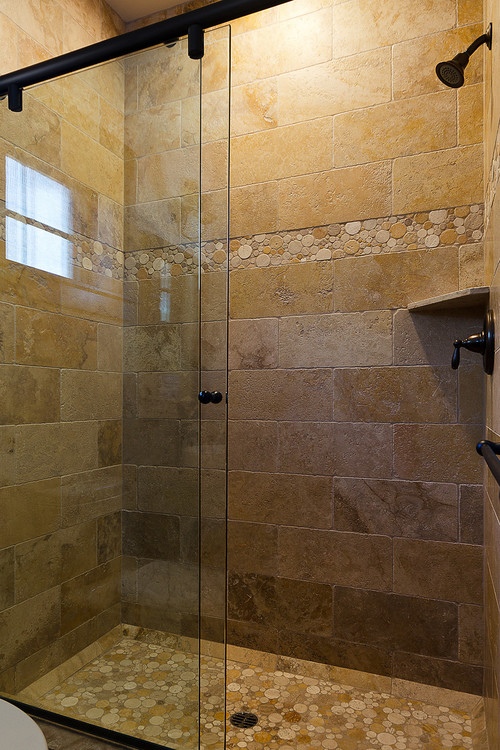 Did You Purchase The Shower Tray Tiled In River Rock Or Make It Yourself What Use
