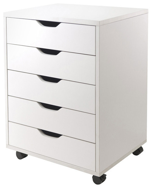 Halifax 5-Drawer Cabinet, White - Kitchen Cabinetry - by Peazz