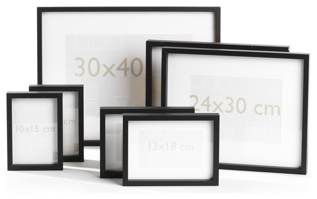 Sierra deco lot de 7 cadres photos noirs contemporain for Cadre contemporain