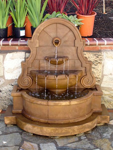 Patio Water Fountain Idea traditional-patio - Patio Water Fountain Idea