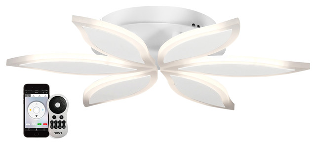 Capella 17 Wifi-Enabled Tunable-White Led Ceiling Fixture, White.