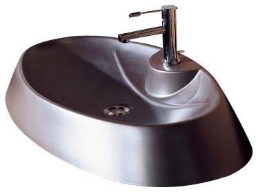 scarabeo ceramiche oval shaped white ceramic vessel sink bathroom sinks houzz. Black Bedroom Furniture Sets. Home Design Ideas