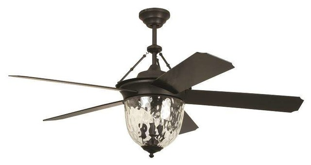 "Ellington Cav52abz5lk Cavalier 52"" Ceiling Fan, Aged Bronze Brushed."