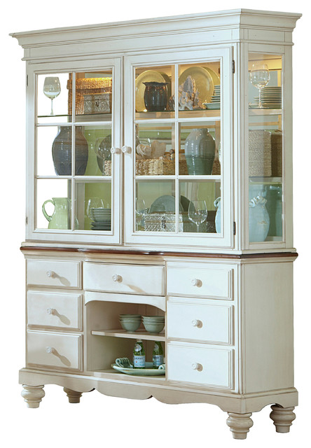 Pine Island Buffet And Hutch, Old White Finish