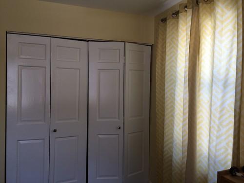 Replace Closet Bifold Doors With Curtains