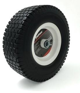 "TruePower 13"" PU Flat Free Tire on Wheel With 3"" Centered Hub"