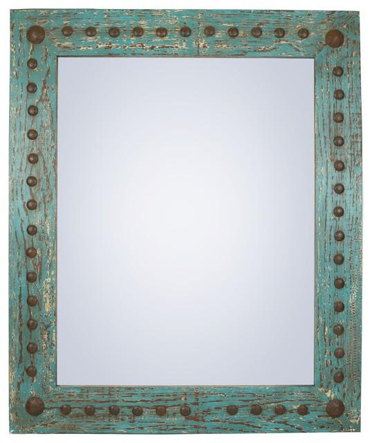 Rustic Mirror, Puebla, 30x36.