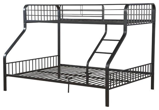 caius twin xloverqueen bunk bed gunmetal