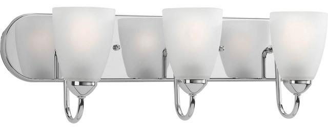 Gather 3-Light Bathroom Vanity Lights, Polished Chrome.