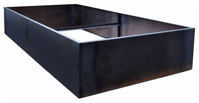 Nice Corten Steel Planter Bed 48 Industrial Outdoor Pots And