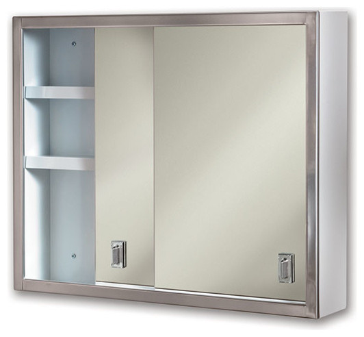"Contempora 24""x19 1/4"" Surface Mount Stainless Medicine Cabinet - Contemporary - Medicine ..."
