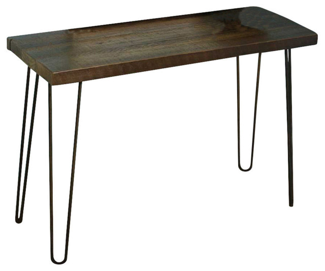 Reclaimed Wood Console Table Hairpin Legs