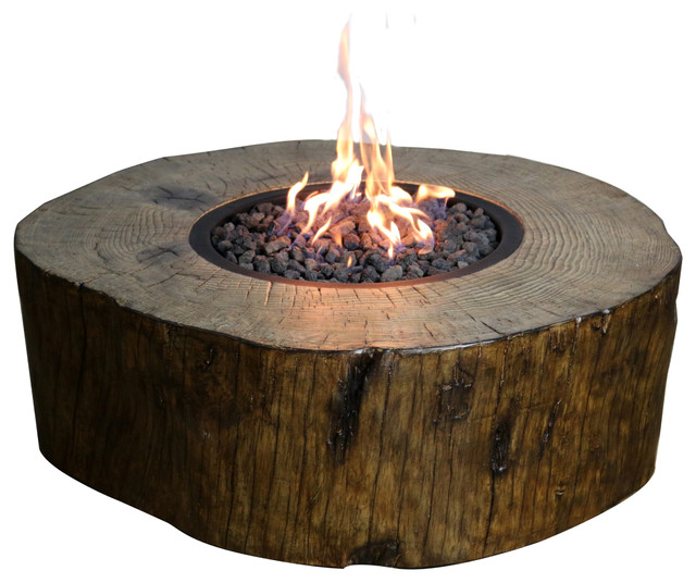 Burning Stump Fire Pit Natural Gas Rustic Fire Pits by