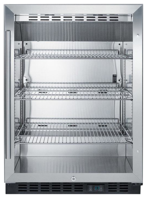 Commercial, Beverage Refrigerator With Ss Interior Scr610bl.