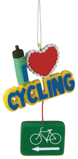 I Love Cycling Christmas Tree Ornament Bike Sport Novelty Holiday Gift